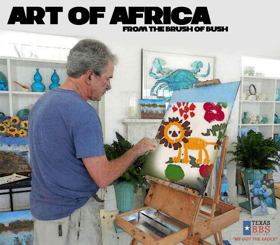 ART OF AFRICA - FROM THE BRUSH OF BUSH