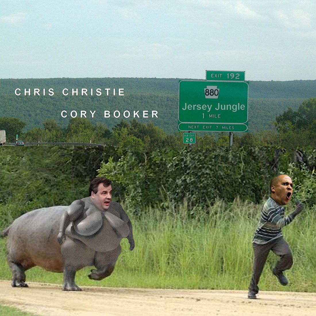 JERSEY JUNGLE starring Chris Christie and Cory Booker