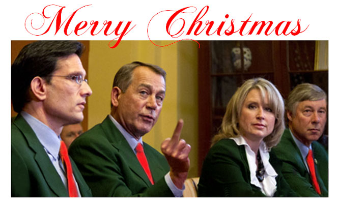 GOP Christmas cards arrive at 160 million homes!