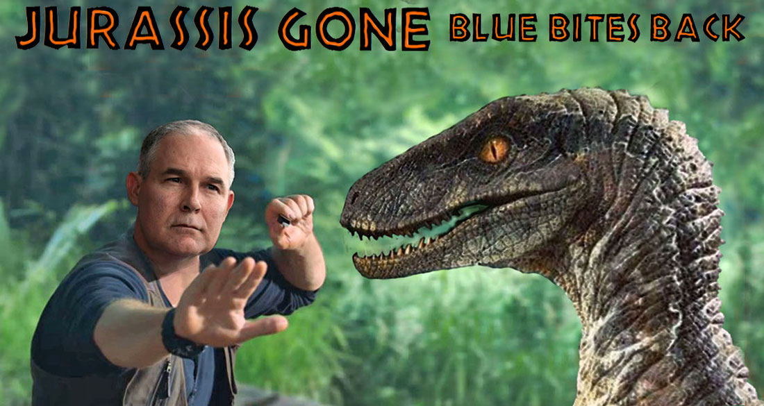 JURASSIS GONE - BLUE BITES BACK
