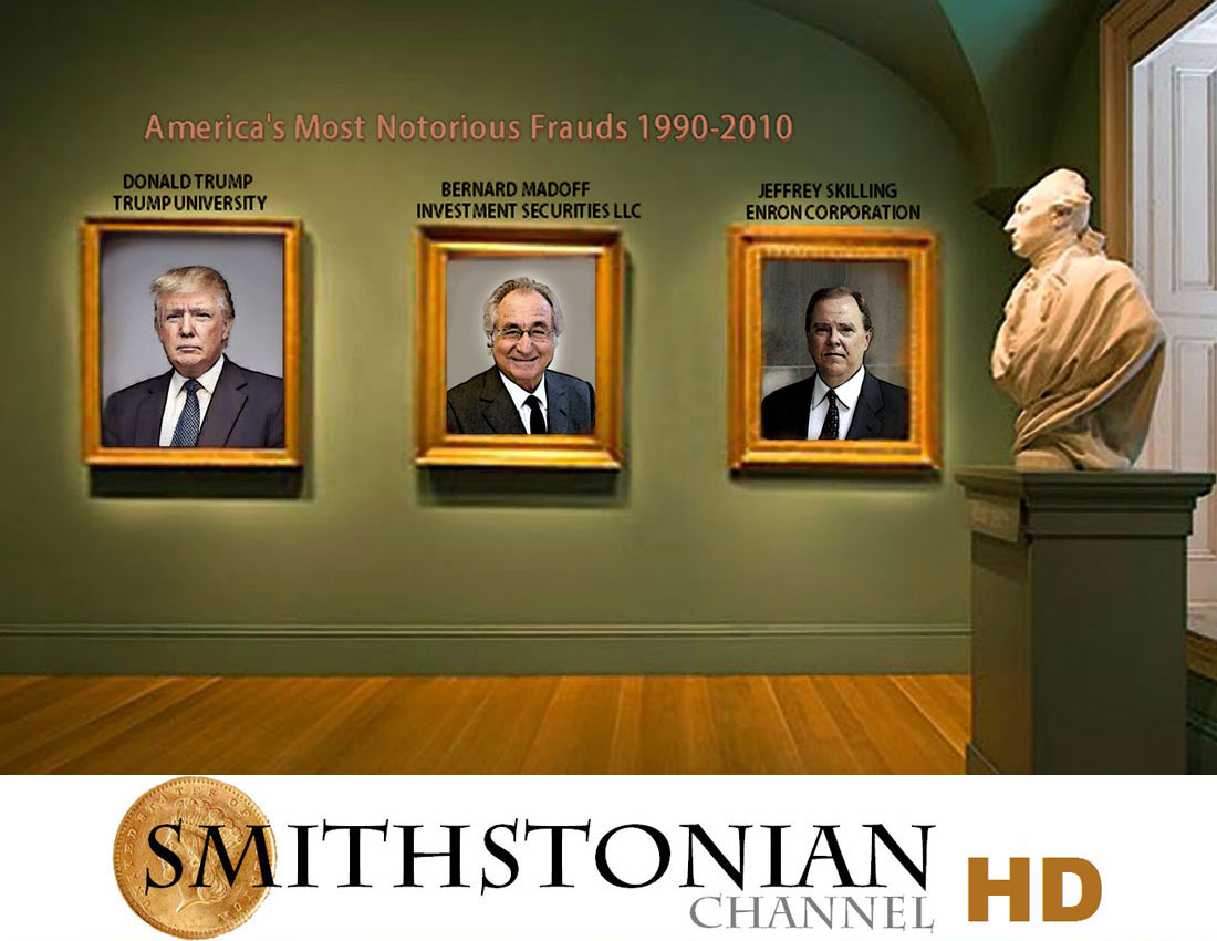 THE SMITHSTONIAN CHANNEL celebrates the hanging of Donald Trump's portrait.