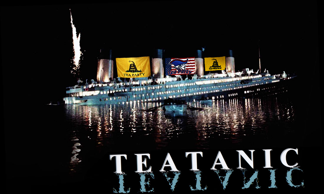 TEATANIC SINKING is a new movie about the sinking of the Tea Party