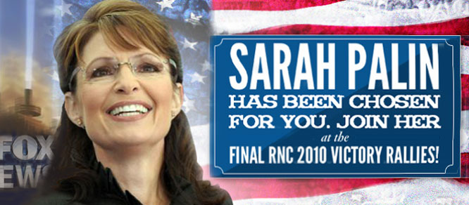 Sarah Palin is unofficially the chosen one.
