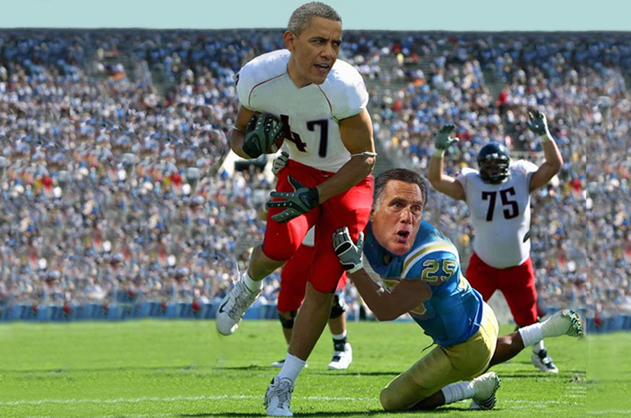 Obama up by touchdown!