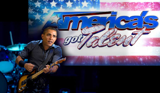 Obama wows judges on America's Got Talent.
