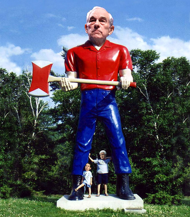 When it comes to cuts see Ron Paul Bunyan.