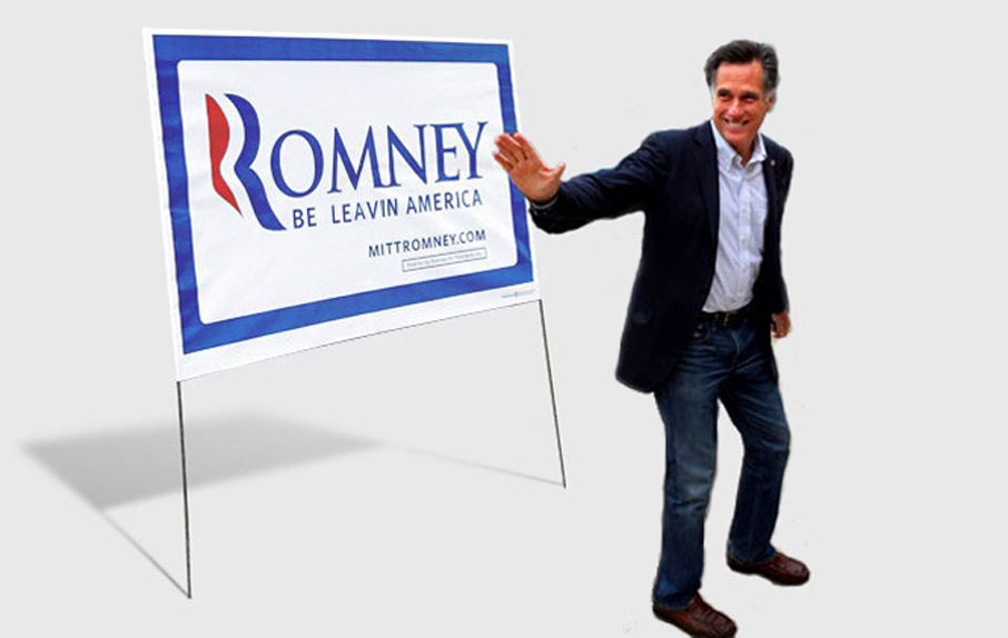 Lord Romney flees country to dodge tax questions!