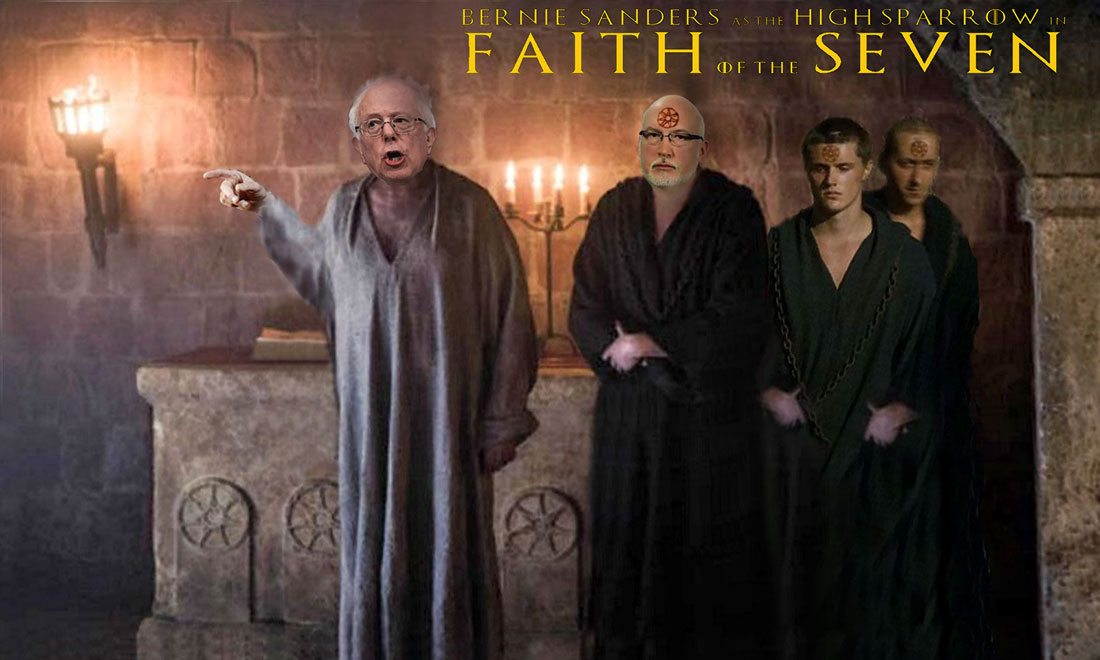 BERNIE SANDERS IN FAITH OF THE SEVEN