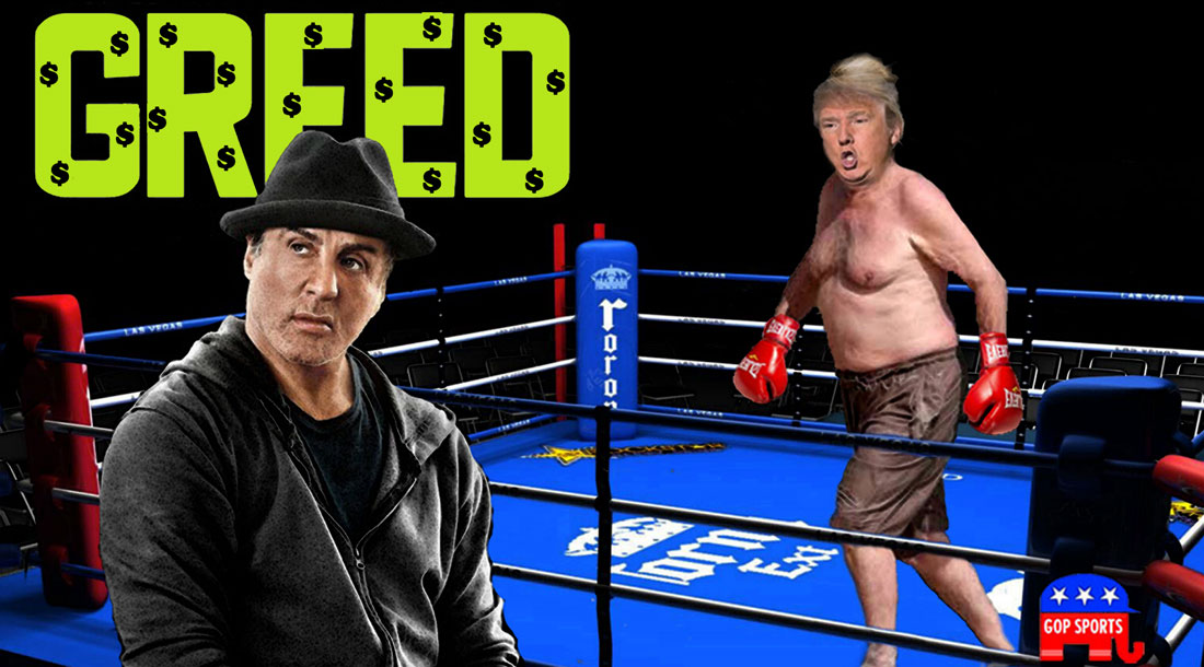STALLONE and TRUMP starring in GREED