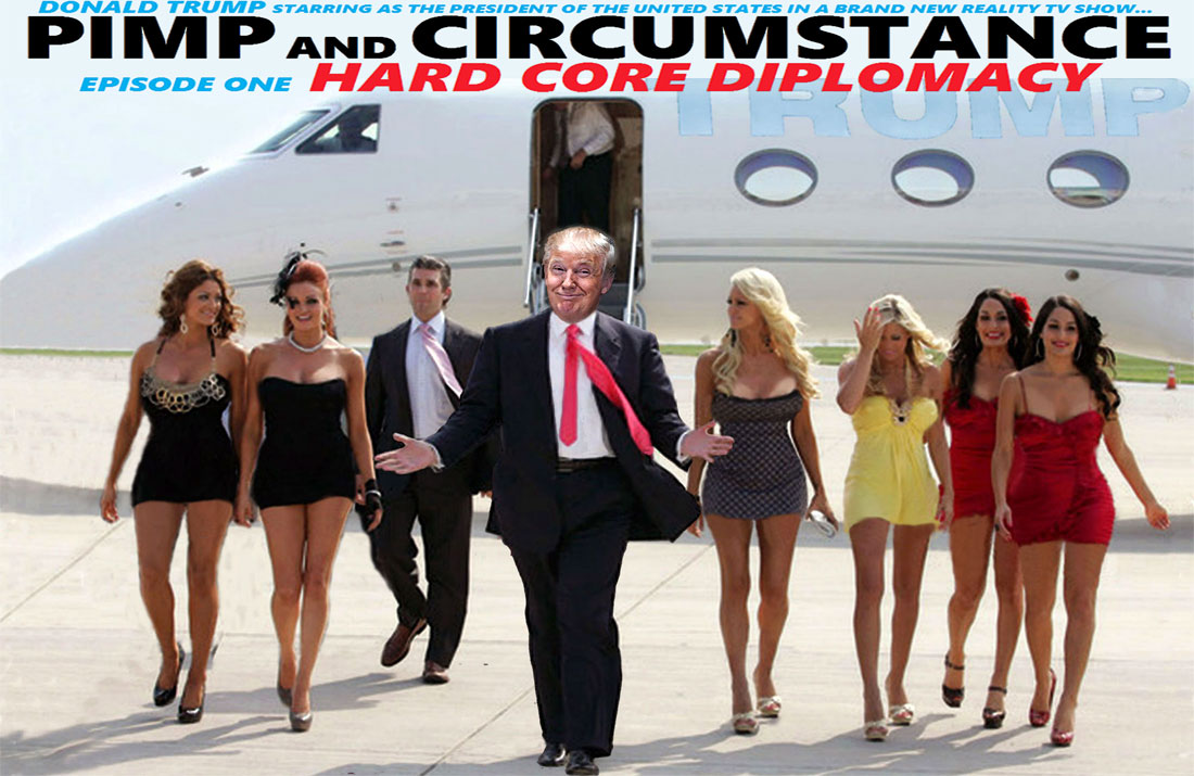 DONALD TRUMP starring in PIMP AND CIRCUMSTANCE