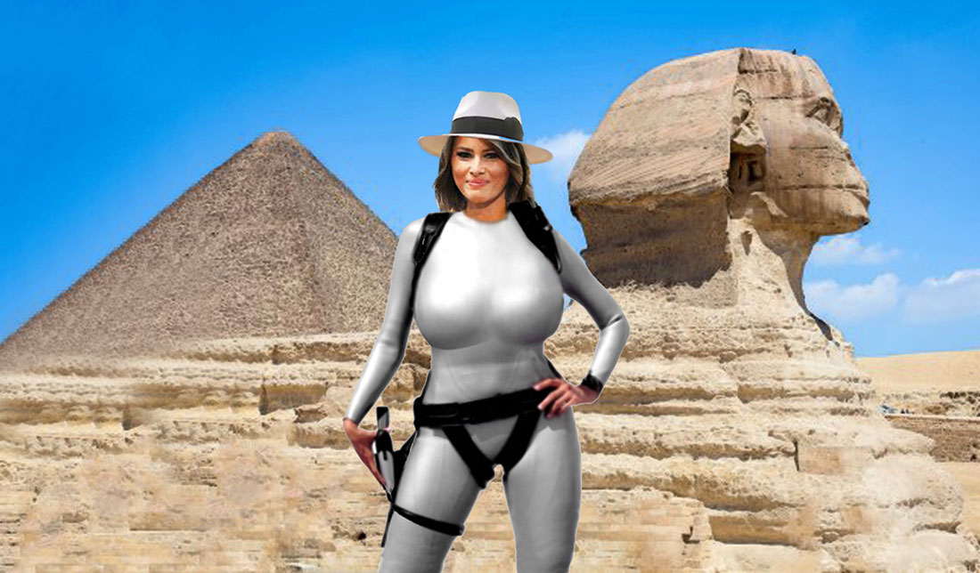 MELANIA IN EGYPT